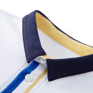 PurCotton 全棉时代 2000238301 幼儿男款针织小翻领短袖POLO衫 90/52(建议2-3岁) 白色