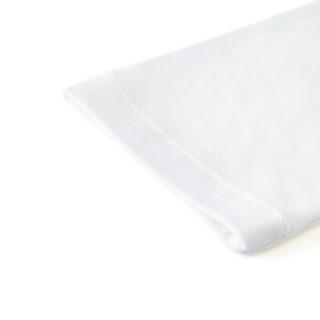 PurCotton 全棉时代 2000229001 幼儿男款针织提花贴袋长袖套装 100/52(建议3-4岁) 白色