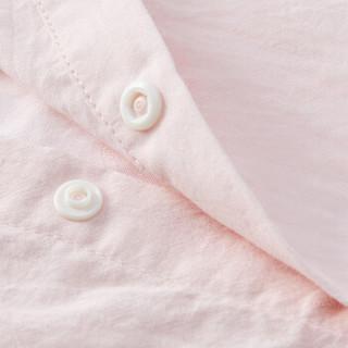 PurCotton 全棉时代 2000213801 幼儿女款剪花短袖衬衫 80/48(建议12-18个月) 粉色