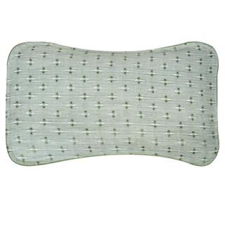 喜亲宝(K.S.babe)苎麻婴儿枕头 宝宝定型夏凉枕 新生儿四季枕护形枕(39.5×21cm浅绿色)2019夏款