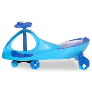 乐贝儿童扭扭车摇摆车静音轮溜溜车1-3-6岁宝宝玩具婴幼儿妞妞车 蓝色