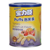 宝力臣(Babypower)儿童零食 手指磨牙泡芙条 番茄葡萄柚味 48g