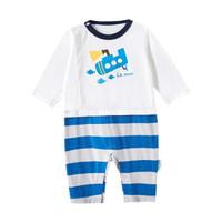 Purcotton 全棉时代 婴儿针织假两件连体衣