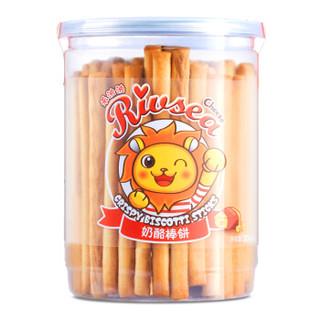禾泱泱(Rivsea)宝宝零食磨牙饼干奶酪棒饼台湾进口儿童饼干206g