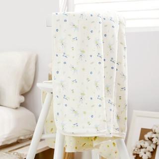 全棉时代 被子宝宝空调被婴儿纱布空调被 135*120cm 绿兔子+黄底蜜蜂 1件/袋