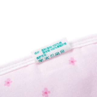 全棉时代 肚围婴儿纱布肚围 55*12cm 粉色小花朵+粉兔瓢虫 2条装