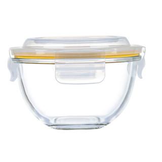 Glasslockbaby婴儿辅食碗 玻璃冷冻密封保鲜盒沙拉碗储存盒 锁扣盖圆形380ml