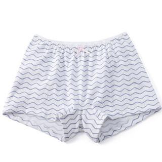 全棉时代 少女针织平角裤 165/90 紫色波浪+粉底波点 2件装