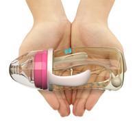 伊斯卡尔(EASYCare)PPSU婴儿奶瓶 宽口径防摔带把手吸管企鹅哺乳瓶 260ml粉色 L奶嘴新生儿 6-12个月使用 *2件