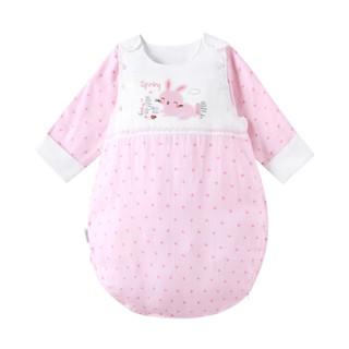 PurCotton 全棉时代 2300263002 婴儿纱布侧开睡袋 90*58cm(建议18-24个月)  粉色小花朵