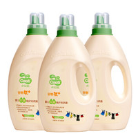 小浣熊 儿童皂液婴儿倍护洗衣液 2L*3瓶 宝宝适用抑菌洗衣液 *4件