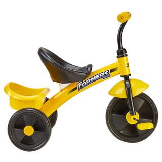 Happy Dino 小龙哈彼 LSR301-Q122 儿童三轮车 黄色