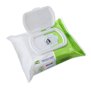 德国进口 喜宝HiPP 婴幼儿抽取式湿巾纸  20抽/包便携装  手口可用