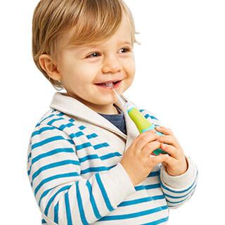 美国MDB婴儿电动牙刷2-3-5岁儿童声波震动软毛牙刷(配2个替换刷头)绿色