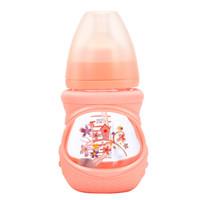 贝适邦 奶瓶婴儿玻璃奶瓶吸管奶瓶 仿真奶嘴宽口径奶瓶 童年屋150ML