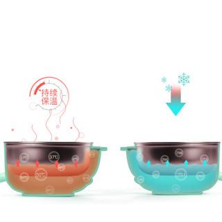 babycare儿童餐具辅食碗 宝宝餐具保温碗吸盘碗叉勺316不锈钢餐具套装 3880薄荷绿5件套