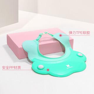 新妙(Xinmiao)儿童硅胶洗头帽 多功能可调节洗发帽 婴儿宝宝防水护耳洗澡帽小Q熊浴帽