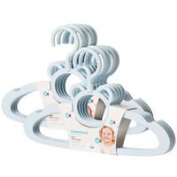 babyhood 世纪宝贝 儿童衣架 婴儿用品宝宝小孩塑料小衣架 10个装 天蓝色 BH-724
