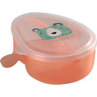 babycare儿童餐具套装 婴儿碗勺套装宝宝吃饭辅食碗防摔保温碗 2360槟橙
