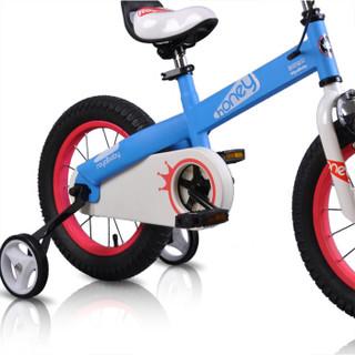 优贝(RoyalBaby)儿童自行车 单车男女小孩童车山地车 3岁5岁7岁9岁宝宝脚踏车 哈尼宝贝16寸 蓝色