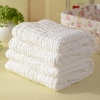 贝吻 B2080 婴儿水洗6层纱布浴巾 白色 115CM*120CM