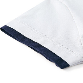 PurCotton 全棉时代 2000206502 婴儿针织短袖连体衣+口水兜 59/44(建议0-3个月) 灰色 2件装