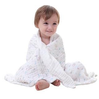 贝吻 B2042 婴儿棉质水洗6层纱布浴巾 乖巧兔 90CM*110CM
