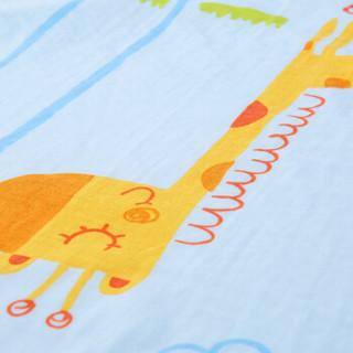 全棉时代 隔尿垫婴儿纱布片印隔尿垫 90*70cm 黄色长颈鹿 1条装