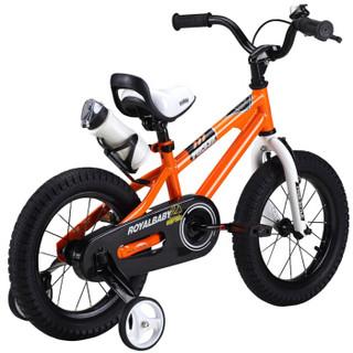 优贝(RoyalBaby)儿童自行车 小孩单车男女童车 宝宝脚踏车山地车 3岁5岁7岁9岁 表演车12寸 橙色