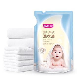 Kaili 开丽 婴儿亲肤洗衣液套装 (洗衣液1L瓶×1瓶+500ml袋装×3袋+洗衣皂80g×2块)