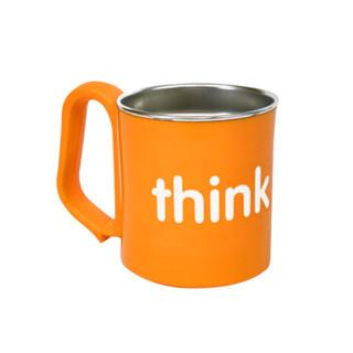 美国进口Thinkbaby 儿童宝宝不锈钢水杯 橙色 保温隔热易抓握
