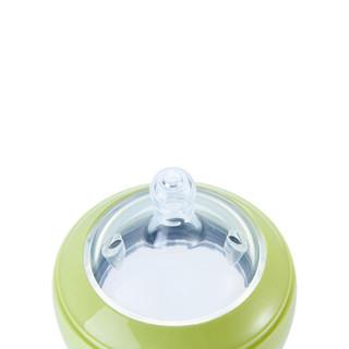 变奏曲(partita)婴幼儿硅胶宽大口径奶瓶高温耐摔(标配2段奶嘴) 250ml玉黄色 加拿大品牌
