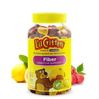 小熊糖 L'ilCritters丽贵 儿童营养纤维益生菌助消化 软糖 90粒装 美国进口 2岁及以上