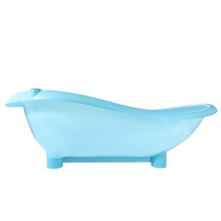 小白熊 09659 加厚可坐可躺儿童浴盆 蓝色