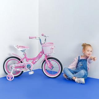 途锐达(TOPRIGHT)儿童自行车女孩单车脚踏车4/6/8岁小孩玩具车平衡车电动车滑步车 经典版小城堡 粉色 14寸
