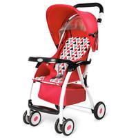 宝宝好 5637956 可折叠轻便婴儿四轮推车 红色