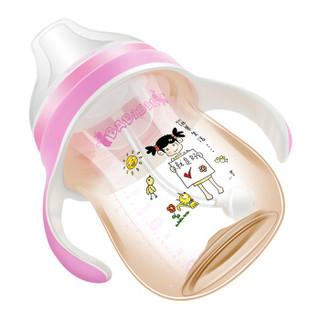 贝儿欣(BABISIL)宝宝PPSU鸭嘴学饮杯能量杯系列240mL夏季喝水杯 粉红BS5369-CI