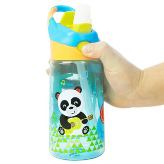 美国费雪儿童吸管杯 男女宝宝水杯 Tritan材质夏季户外防漏便携式手提杯 450ML 蓝色