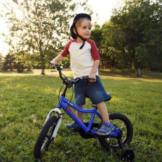优贝 RoyalEco儿童自行车宝宝脚踏车2-4-6-7-8-9-10岁童车男孩女孩单车优享车12寸 蓝色
