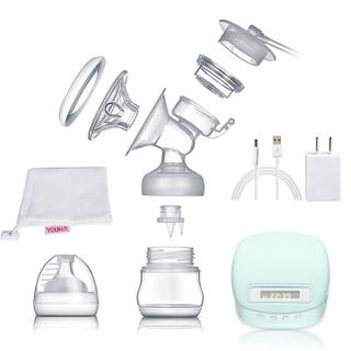 优合(YOUHA)电动吸奶器 液晶屏按摩吸乳自动吸乳器 产妇挤奶器静音母乳储奶YH-8006II蓝