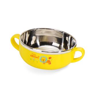 宝啦 儿童餐具套装 婴儿辅食碗 宝宝不锈钢碗勺叉水杯套装 新生儿用品餐具套装 3030