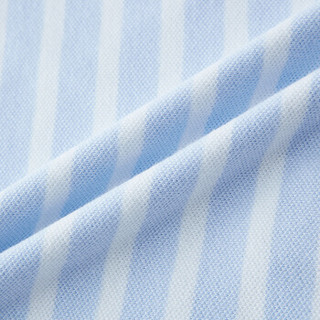 PurCotton 全棉时代 2000238201 幼儿男款色织条短袖POLO衫 80/48(建议12-18个月) 宝贝蓝白条