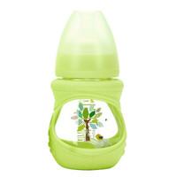 贝适邦 奶瓶婴儿玻璃奶瓶吸管奶瓶 仿真奶嘴宽口径奶瓶 智慧树150ML