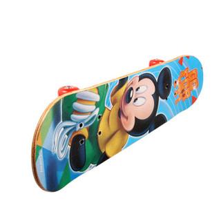 迪士尼(Disney)滑板车小孩玩具板儿童四轮全闪刷街双翘板公路板脚踏车米奇滑板DCD71194-A