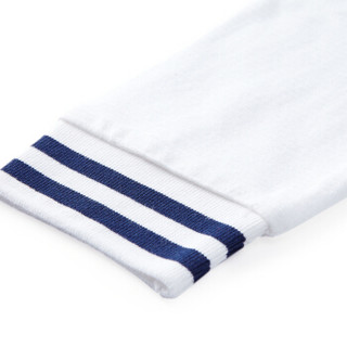 PurCotton 全棉时代 2000241501 幼儿男款针织排纱间罗纹口外套 90/52(建议2-3岁) 白色