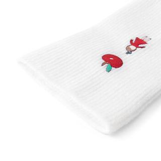 全棉时代 幼儿女款长筒袜 11cm(建议1-2岁)白色 1双装
