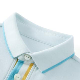 PurCotton 全棉时代 2000237701 幼儿男款彩色门襟短袖POLO衫 80/48(建议12-18个月) 晴空蓝