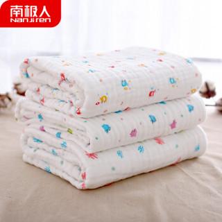 南极人(Nanjiren)婴儿浴巾 新生儿童毛巾婴儿宝宝12层纯棉纱布浴巾口水巾 小飞机 70*140cm