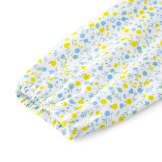 PurCotton 全棉时代 2000209102 婴儿针织缩褶妙妙衣 66/44(建议3-6个月) 黄色小花
