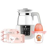小白熊 (Snow Bear) 调奶实惠套装(恒温调奶器 1.2L+玻璃奶瓶160ml+婴儿湿巾25抽*4包)